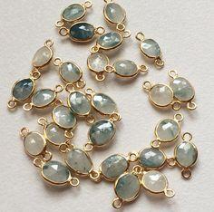 WHOLESALE 10 Pcs Blue Sapphire Connectors by gemsforjewels on Etsy