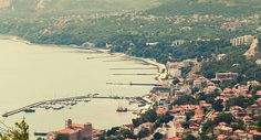Balchik town cityscape, Black Sea, Bulgaria stock photo