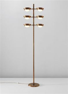 Oscar torlasco brass and enameled metal floor lamp for lumi c1955 pietro chiesa brass and glass floor lamp c1938 mozeypictures Gallery