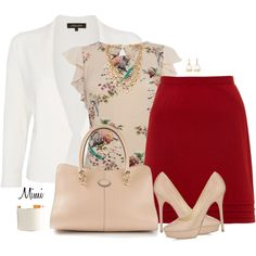 """Chic Professional Woman Work Outfit. """"Femininity Works"""" by myfavoritethings-mimi on Polyvore"""