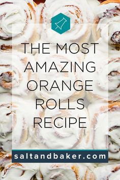 These homemade sweet orange rolls are easy to make and are the BEST treat for breakfast or your next party. Best Brunch Recipes, Healthy Breakfast Recipes, Party Recipes, Orange Sweet Rolls, Sweet Roll Recipe, No Salt Recipes, Baker Recipes, Sweet Breakfast, Rolls Recipe