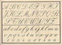 Vintage cursive alphabet~Unfortunately, Children do Not Learn this in School Anymore. No Penmanship Classes in Schools. Did you ever see how Poorly they Write?