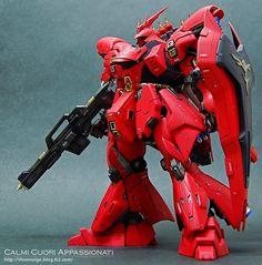 "Custom Build: HGUC 1/144 MSN-04 Sazabi ""Detailed"" - Gundam Kits Collection News and Reviews"
