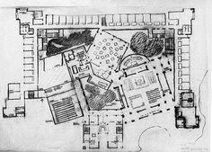 Louis Kahn | Planta del Convento de las Dominicas
