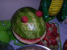 Dinosaur Watermelon Fruit Salad fruit salads, watermelon fruit, dinosaur watermelon