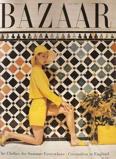 Harper's Bazaar June 1953 - Jean patchett, vintage 1950s / 50s fashion
