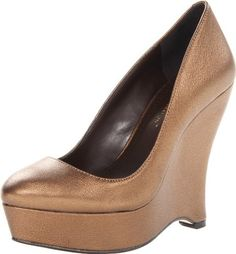 BCBGeneration Womens Carleen Wedge PumpBronze8 M US -- Check out the image by visiting the link.
