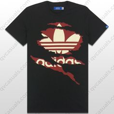 adidas Originals Mens G Ripped Trefoil Tee X34435 at QV casuals. Great deals on a wide range of t shirts.