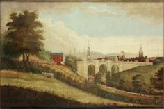 size: Giclee Print: New Bridge over Pandon Dene, Newcastle Upon Tyne, by English School : Great Fire Of London, The Great Fire, Lady Lever Art Gallery, Windmill Hill, Animal Painter, Newcastle University, Tropical Art, Art Uk, St Thomas