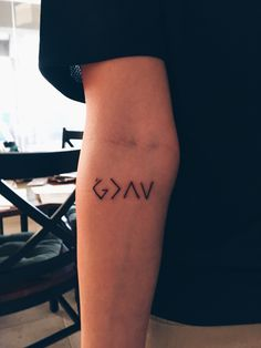 God is greater than the highs and lows // thanks atomic tattoos