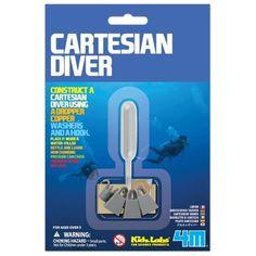 4M Kidz Labs - Cartesian Diver on Yellow Octopus #giftsforkids #gifts #4m #kidz #labs #cartesian #diver