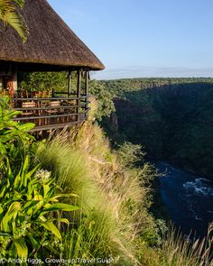 The ultimate place to stay for Victoria Falls has the most spectacular setting you can imagine and a social responsibility program that works - Gorges Lodge Victoria Falls, Natural Earth, African Safari, Zimbabwe, Hotel Reviews, Travel Guide, Places Ive Been, Beautiful Places, World