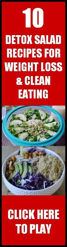 10 of my favorite delicious Detox Salad Recipes for Weight Loss and Clean Healthy Eating... Enjoy!