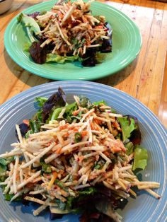 kohlrabi slaw with toasted pecan dressing
