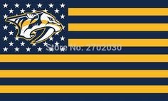 Nashville Predators Hockey Sports Team Star & Stripe US National Flag 3ft X 5ft Custom Banner With Sleeve Two Gromets 90*150CM