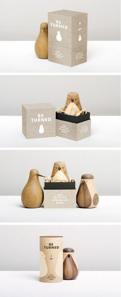 """""""THE BIRDS of Lars Beller Fjetland started out as leftover wood or ignored trash, but has been turned into desired pieces of «feel-good woodcraft Honey Packaging, Cute Packaging, Brand Packaging, Spices Packaging, Packaging Ideas, Typography Design, Branding Design, Cardboard Packaging, Recyclable Packaging"""