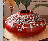 Metal Embossing Workshop Project - Vines & Twines Vase