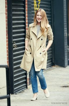Our Style Director's Guide to Wearing Your Trench via @WhoWhatWear