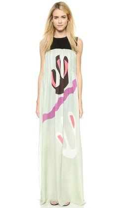 ISSA Leslie Dress mint green multi