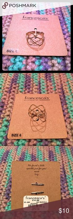 Double Infinity Ring Gold double infinity ring. Francesca's Collections Jewelry Rings