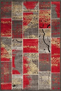Momeni Rugs Area Rug Vouge Collection VG-01 Red