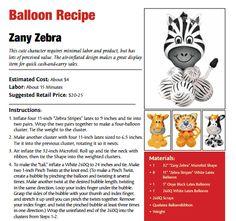 Zany Zebra Balloon Recipe
