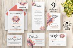 Wedding Invitation Suite - Alli by Print The Love Boutique on @creativemarket