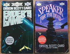 Ender's Game and Speaker for the Dead. Great books by Orson Scott Card.