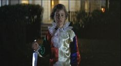 Halloween - Young Michael Myers with a knife.- The Classic movie Halloween (1978)