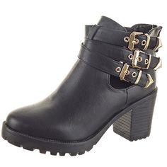 Sopily - Scarpe da Moda Stivaletti - Scarponcini Low boots Aperto alla caviglia donna Tanga sexy fibbia Tacco a blocco 8 CM - Nero in OFFERTA su www.kellieshop.com Scarpe, borse, accessori, intimo, gioielli e molto altro.. scopri migliaia di articoli firmati con prezzi da 15,00 a 299,00 euro! #kellieshop Seguici su Facebook > https://www.facebook.com/pages/Kellie-Shop/332713936876989