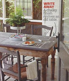 farmhouse musings: Chalkboard Dining Table