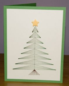 Cool Embroidered Christmas Card.