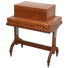 Gentleman's Marquetry Traveling Valet | See more antique and modern Dressers at https://www.1stdibs.com/furniture/storage-case-pieces/dressers