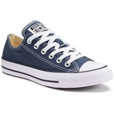 Adult Converse All Star Chuck Taylor Sneakers ($55) ❤ liked on Polyvore featuring shoes, sneakers, blue, blue shoes, flexible shoes, laced sneakers, blue sneakers and grip shoes