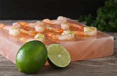 Himalayan Salt Block with Shrimp - scroll down for recipe