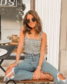 Cute Summer Outfits, Cute Casual Outfits, Simple Outfits, Pretty Outfits, Stylish Outfits, Spring Outfits, Casual Jeans, Jeans Style, Teen Fashion Outfits