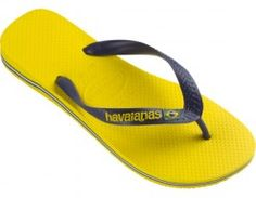 Havaianas Brazil Logo (Citrus Yellow)  These flashy flops feature the flag of Brazil. You've got a big personality, and these flops will only serve to accentuate it! The Havaianas textured footbed is always comfortable.