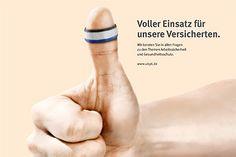 Werbung für die Unfallkasse Post und Telekom