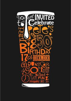 Flyer for birthday invite.  Copyright Mayfly Design  mayflydesign.carbonmade.com #type #design