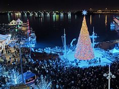 The National Harbor is a great place to visit during the holidays in DC. Festivities include caroling, movies, fireworks, and even a visit by Santa Claus.