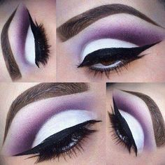 Amazing purple cut crease