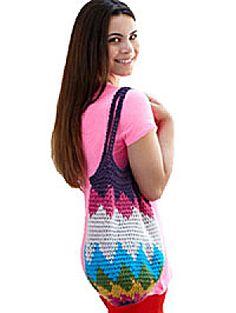 Crochet Kit: Rainbow Burst  Tote (Image1)
