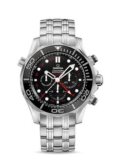 Relojes OMEGA: Seamaster Diver 300 M Co-Axial GMT Chronograph 44 mm - Acero con Acero - 212.30.44.52.01.001