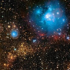 NGC 7129 is a reflection nebula and spent star-forming region located 3,300 light years away in the constellation Cepheus. A young open cluster is responsible for illuminating the surrounding nebula. - Image Credit: Canada-France-Hawaii Telescope / Coelum - via Jean-Baptiste Faure
