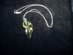 Beautiful blown glass leaf shape necklace by crste3designs on Etsy, $13.00