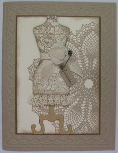 Canvas Dress Form by cherylcanstamp - Cards and Paper Crafts at Splitcoaststampers