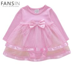 331479af373 Newborn Baby Girls Dress Long Sleeves Lace Bow Ball Gown Princess Costumes  Christmas Party Wear Toddler