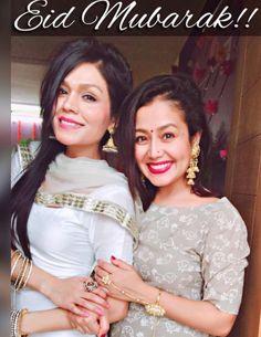 Aap Sabko #EidMubarak!! from Me and Sonu Di!!  @sonukakkarofficial  ❤️ #NehaKakkar  #Sisters #SisterGoals
