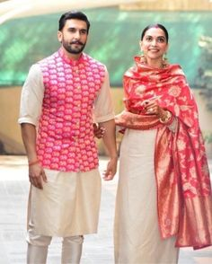 Deepika Padukone and Ranveer Singh Wedding Wedding Kurta For Men, Wedding Dresses Men Indian, Wedding Dress Men, Wedding Sherwani, Indian Dresses, Indian Outfits, Wedding Suits, Wedding Bride, Western Outfits