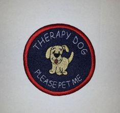 I May Be Small But My Job Is Big Embroidered Sew-On Service Dog Therapy Dog